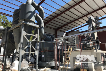 Marble grinding by MTW175Z mill for Mortar