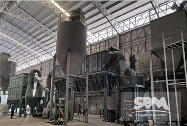 Limestone grinding by SCM1250, 3-7TPH for oil drilling mud